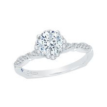 Load image into Gallery viewer, Round Diamond Engagement Ring CARIZZA CA0104E-37W
