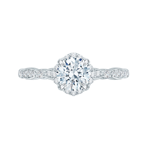 Round Diamond Engagement Ring CARIZZA CA0104E-37W