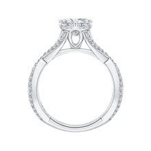 Load image into Gallery viewer, Split Shank Round Diamond Engagement Ring CARIZZA CA0105E-37W