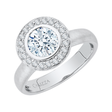 Load image into Gallery viewer, Plain Shank Halo Diamond Engagement Ring CARIZZA CA0107E-37W