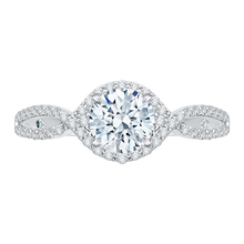Load image into Gallery viewer, Split Shank Round Diamond Engagement Ring CARIZZA CA0110E-37W-1.00