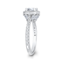 Load image into Gallery viewer, Signature Octagon Shape Halo Engagement Ring CARIZZA CA0114E-37W