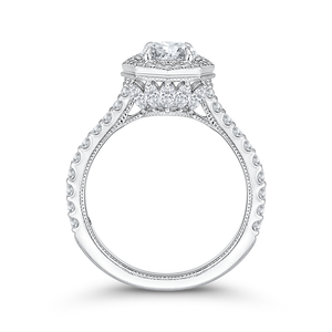 Signature Octagon Shape Halo Engagement Ring CARIZZA CA0114E-37W