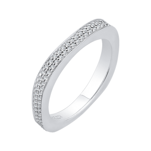 Two Row Diamond Basket Wedding Band CARIZZA CA0133BQ-37W-1.50