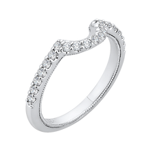 Load image into Gallery viewer, Floating Halo Diamond Wedding Band CARIZZA CA0141BH-37W