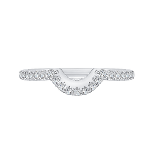 Floating Halo Diamond Wedding Band CARIZZA CA0141BH-37W