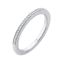 Load image into Gallery viewer, Channel and Pave Basket Diamond Wedding Band CARIZZA CA0144BH-37W