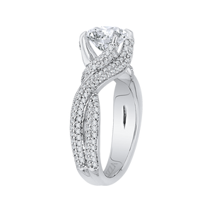 Forever Twisting Diamond Engagement Ring CARIZZA CA0151EQ-37W-1.50