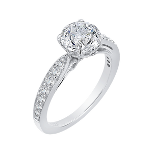 Charm Tapering Diamond Engagement Ring CARIZZA CA0152EH-37W-1.50