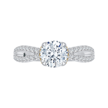 Load image into Gallery viewer, Braided Split Shank Round Diamond Engagement Ring CARIZZA CA0154EH-37WY