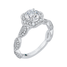Load image into Gallery viewer, Floral Semi - Mount Diamond Engagement Ring CARIZZA CA0160EQ-37W
