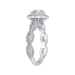 Floral Semi - Mount Diamond Engagement Ring CARIZZA CA0160EQ-37W