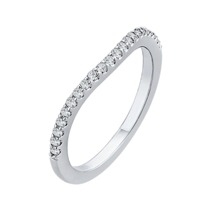 White Gold Diamond Studded Wedding Band CARIZZA CA0180BH-37W-1.50