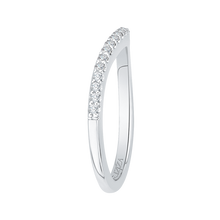 Load image into Gallery viewer, White Gold Diamond Studded Wedding Band CARIZZA CA0180BH-37W-1.50
