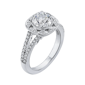 Split Shank Round Diamond Engagement Ring CARIZZA CA0180EH-37WY-1.50