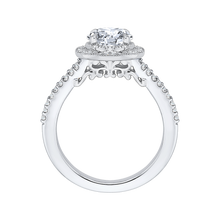 Load image into Gallery viewer, Split Shank Round Diamond Engagement Ring CARIZZA CA0180EH-37WY-1.50