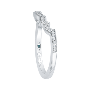 Curving Round Diamond Wedding Band CARIZZA CA0181BH-37W