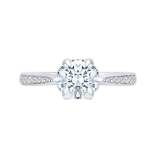 Load image into Gallery viewer, Semi Mount Diamond Floral Engagement Ring CARIZZA CA0186EH-37W-1.50