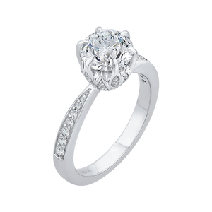 Semi Mount Diamond Floral Engagement Ring CARIZZA CA0186EH-37W-1.50