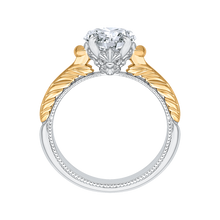 Load image into Gallery viewer, Two-Tone Gold Solitaire Diamond Vintage Engagement Ring CARIZZA CA0199E-WY-1.50
