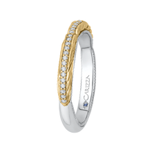 Load image into Gallery viewer, Yellow and White Gold Round Diamond Wedding Band CARIZZA CA0203B-37WY-1.50