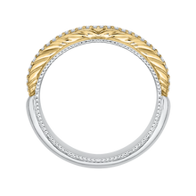Load image into Gallery viewer, Yellow and White Gold Round Diamond Wedding Band CARIZZA CA0203B-42WY-1.50