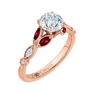Diamond and Ruby Engagement Ring CARIZZA CA0212E-R37P