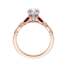 Load image into Gallery viewer, Diamond and Ruby Engagement Ring CARIZZA CA0212E-R37P