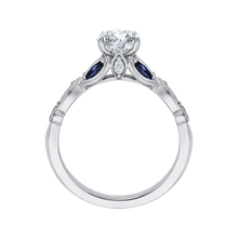 Load image into Gallery viewer, Sapphire Gemstone round Diamond Engagement Ring CARIZZA CA0212E-S37W