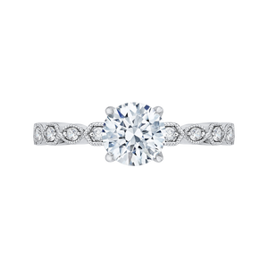 Round Diamond Engagement Ring CARIZZA CA0213EQ-37W