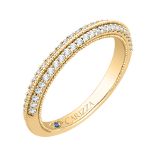 Load image into Gallery viewer, Yellow Gold Round Diamond Wedding Band CARIZZA CA0217B-37-1.50