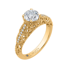 Load image into Gallery viewer, Round Diamond Engagement Ring CARIZZA CA0219E-37