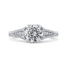 Load image into Gallery viewer, Semi-Mount Vintage Round Diamond Engagement Ring CARIZZA CA0225EH-37W-1.50