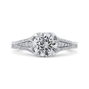 Semi-Mount Vintage Round Diamond Engagement Ring CARIZZA CA0225EH-37W-1.50