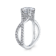 Load image into Gallery viewer, Split Shank Round Diamond Engagement Ring CARIZZA CA0231EQ-37W-2.00