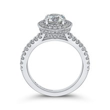 Load image into Gallery viewer, Split Shank Semi-Mount Round Diamond Halo Engagement Ring CARIZZA CA0235EH-37W-1.00