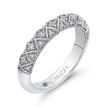 Load image into Gallery viewer, Cathedral Style Wedding Band CARIZZA CA0241BH-42W-1.50