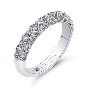 Cathedral Style Wedding Band CARIZZA CA0241BH-42W-1.50