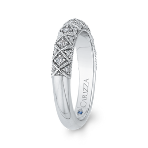 Cathedral Style Diamond Wedding Band CARIZZA CA0241BH-37W-1.50