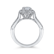 Load image into Gallery viewer, Split Shank Round Diamond Floral Halo Engagement Ring CARIZZA CA0242EH-37W-1.00