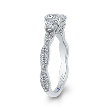 Load image into Gallery viewer, Split Shank Round Diamond Engagement Ring CARIZZA CA0246EQ-37W-1.00