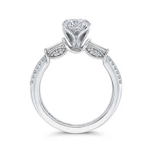 Signature Round Diamond Engagement Ring CARIZZA CA0256EH-37W-1.00