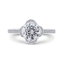 Load image into Gallery viewer, Semi-Mount Round Diamond Floral Halo Engagement Ring CARIZZA CA0257EH-37W-1.50