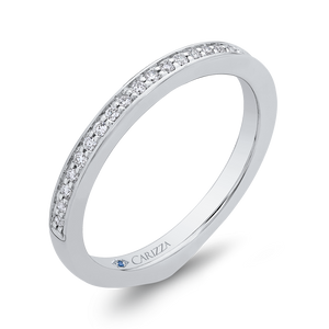 Diamond Half-Eternity Wedding Band CARIZZA CA0261BH-37W-1.00
