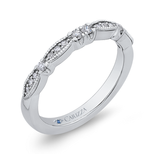 Ribbon Diamond Wedding Band CARIZZA CA0281B-37W-1.50