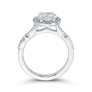 Round Diamond Halo Engagement Ring CARIZZA CA0281E-37W-1.50