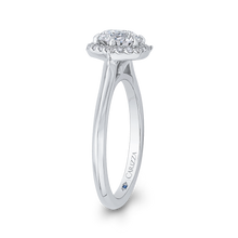 Load image into Gallery viewer, Round Diamond Hexagon Shape Halo Engagement Ring CARIZZA CA0290E-37W-1.00