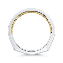 Load image into Gallery viewer, Two-Tone Gold Round Diamond Wedding Band CARIZZA CA0402BH-37WY-1.50