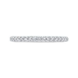 Round Half-Eternity Diamond Wedding Band CARIZZA CA0404BH-37W-1.00