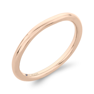 Rose Gold Curved Plain Wedding Band CARIZZA CA0405B-P-1.50